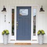 10 цвята на входните врати за тухлени къщи